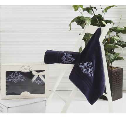 Набор полотенец Karna Agra (синий, 2 предмета)