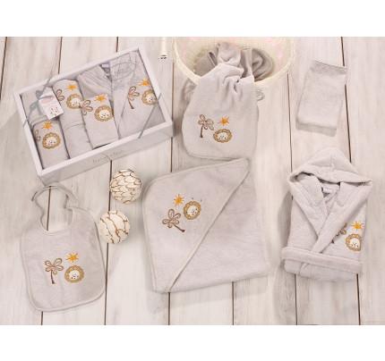 Банный набор Karna Baby Club на 1-3 года (5 предметов, серый)