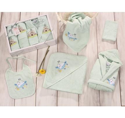 Банный набор Karna Baby Club на 1-3 года (5 предметов, светло-зеленый)