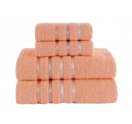 Набор полотенец Karna Bale (абрикосовый, 4 предмета)