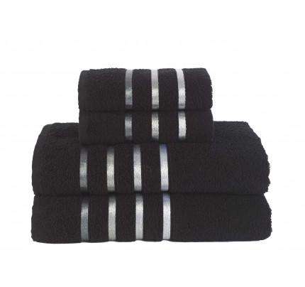 Набор полотенец Karna Bale (черный, 4 предмета)