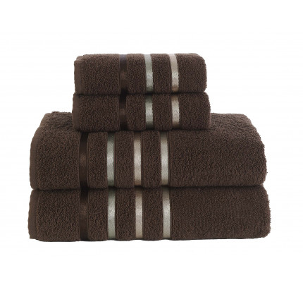 Набор полотенец Karna Bale (коричневый, 4 предмета)