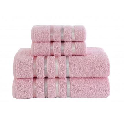 Набор полотенец Karna Bale (розовый, 4 предмета)