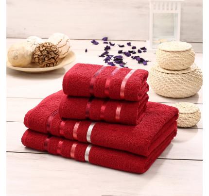 Набор полотенец Karna Bale (красный, 4 предмета)