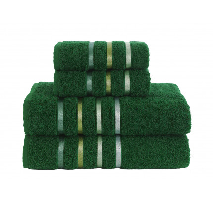 Набор полотенец Karna Bale (темно-зеленый, 4 предмета)