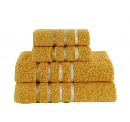 Набор полотенец Karna Bale (темно-желтый, 4 предмета)