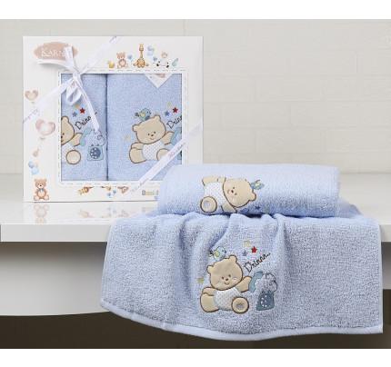 Набор полотенец Karna Bambino Bear (2 предмета, голубой)