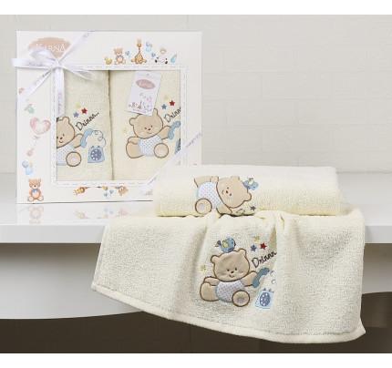Набор полотенец Karna Bambino Bear (2 предмета, кремовый)