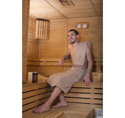 Набор для сауны мужской Karna Barel (бежевый)