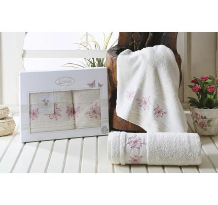 Набор полотенец Karna Bianca (кремовый, 2 предмета)