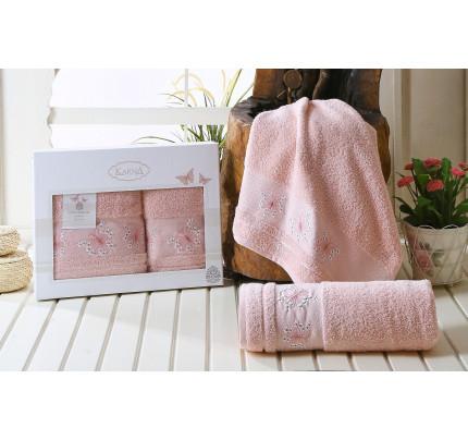 Набор полотенец Karna Bianca (пудра, 2 предмета)