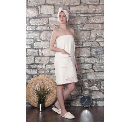 Набор для сауны женский Karna Delbin (кремовый) размер S-L