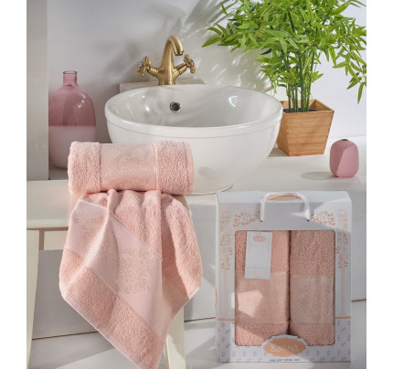 Набор полотенец Karna Dora (абрикосовый, 2 предмета)