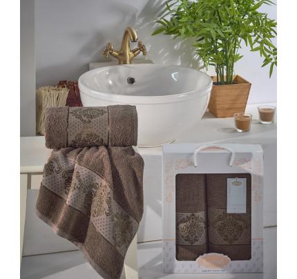 Набор полотенец Karna Dora (коричневый, 2 предмета)