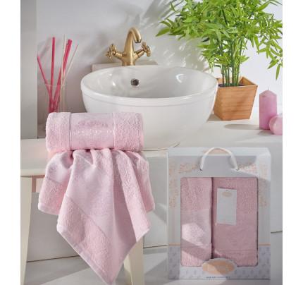 Набор полотенец Karna Dora (светло-розовый, 2 предмета)
