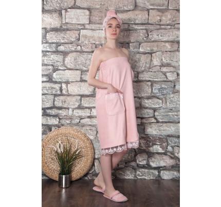 Набор для сауны женский Karna Evon (пудра) размер S-L