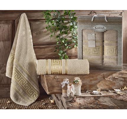Набор полотенец Karna Iteka (бежевый, 2 предмета)
