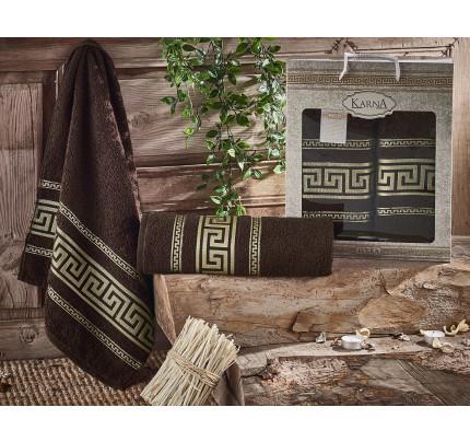 Набор полотенец Karna Iteka (коричневый, 2 предмета)