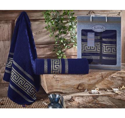 Набор полотенец Karna Iteka (синий, 2 предмета)