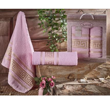 Набор полотенец Karna Iteka (светло-розовый, 2 предмета)