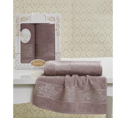 Набор полотенец Karna Lauren (светло-лавандовый, 2 предмета)