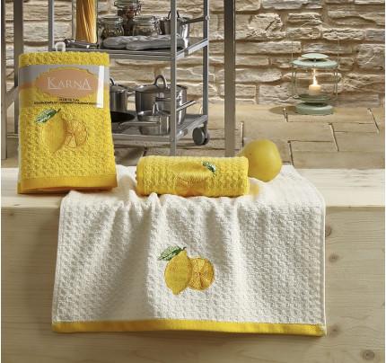 Набор салфеток Karna Lemon V1 (2 предмета, желтый) 40х60