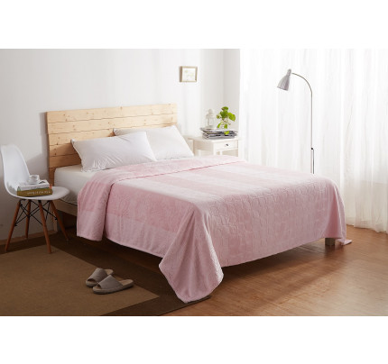 Плед вельсофт Karna Palma (розовый)