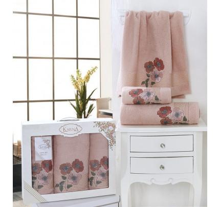 Набор полотенец Karna Sandy (пудра, 3 предмета)