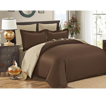 Постельное белье Karna Sanford (коричневый-бежевый)