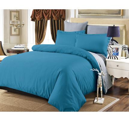 Постельное белье Karna Sanford (синий (саксен)-серый)