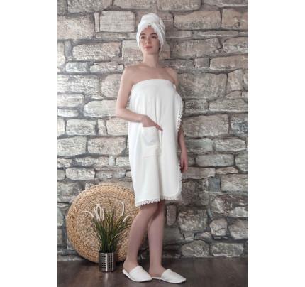 Набор для сауны женский Karna Gisell (кремовый) размер S-L