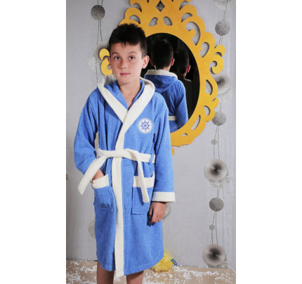Халатик детский Karna Silver (голубой)