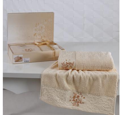 Набор полотенец Karna Viola (светло-абрикосовый, 2 предмета)