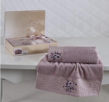 Набор полотенец Karna Viola (светло-сиреневый, 2 предмета)