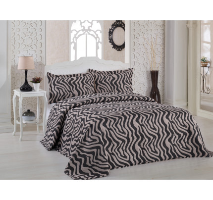 Покрывало Karna Zebra (капучино) 240x260
