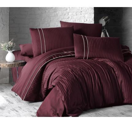 Постельное белье Karven Stripe Style Bordo евро