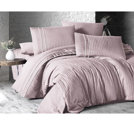 Постельное белье Karven Stripe Style Pudra евро