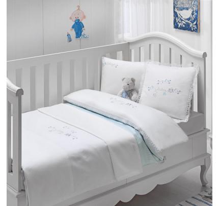 Набор в кроватку с покрывалом Tivolyo Couple (голубое)