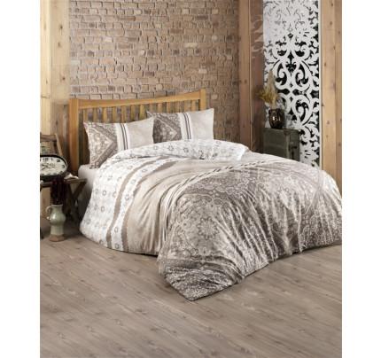 Постельное белье Kristal Home Dilay коричневый