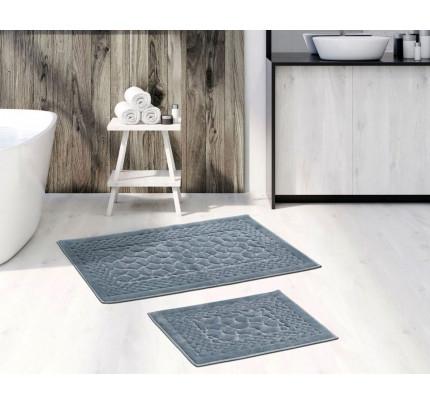 Набор ковриков Karven Hasankeyf серый (50x60+60x100)
