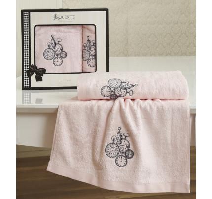 Набор полотенец Lucente Lancetta (розовый, 2 предмета)