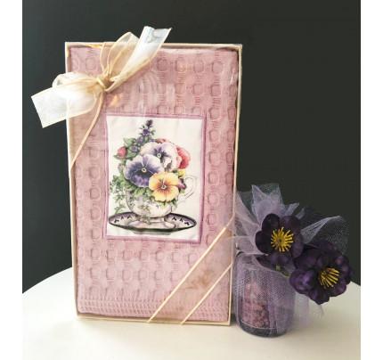 Салфетка La Villa Menekseli Fincan (розовый) 50x70