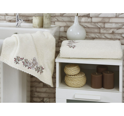 Набор полотенец Karna Lavore (кремовый, 2 предмета)