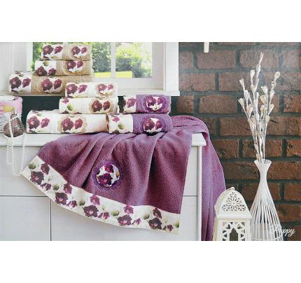 Набор полотенец La Villa Poppy (кремовый) 3 предмета
