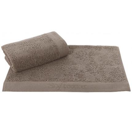 Полотенце Soft Cotton Leaf (коричневое)