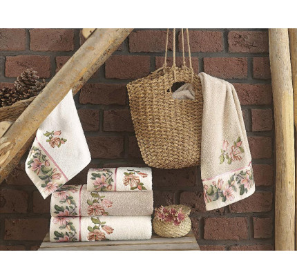 Набор полотенец La Villa Lily (бежевый)