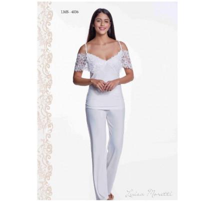 Пижама Luisa Moretti LMS-4036 (кремовая)