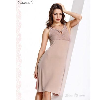 Сорочка Luisa Moretti LMS-1120 (бежевая)