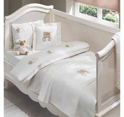 Набор в кроватку с покрывалом Tivolyo Lovely (бежевый)