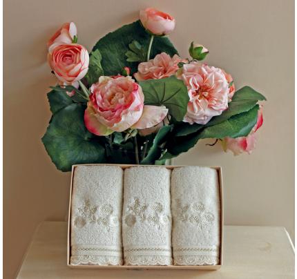 Салфетки Soft Cotton Luna (кремовый, 3 предмета) 32x50